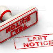 Last Notice